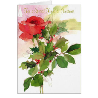 For a Special Friend at Christmas Greeting Card