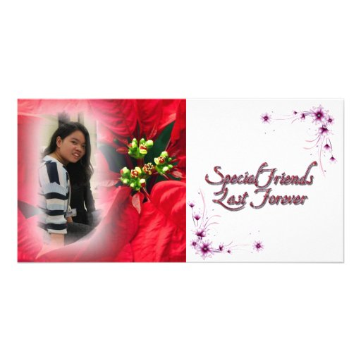 for a special friend photo card