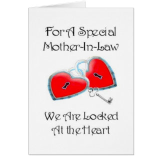 For A Special Mother In Law poem With Graphics Greeting Card