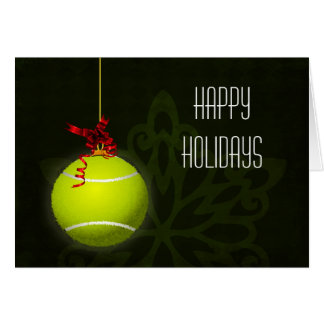 for a tennis player Christmas Cards