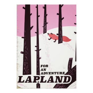 For an adventure Lapland vintage poster