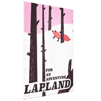 'For an adventure' Lapland vintage poster Canvas Print