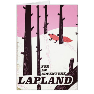 For an adventure Lapland vintage poster Card