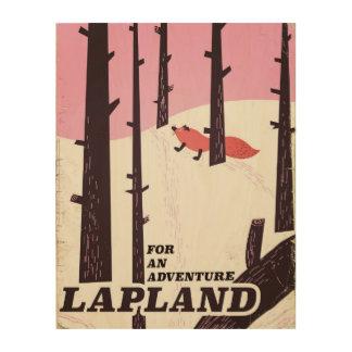 For an adventure Lapland vintage poster Wood Prints