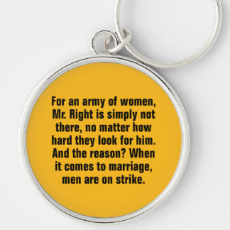 For An Army of Women, Mr. Right Is Simply Not … Silver-Colored Round Key Ring