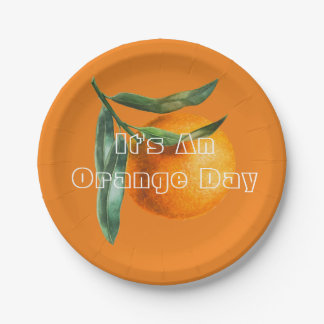 For An Orange Day Paper Plate