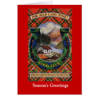 For Auld Lang Syne, Good Luck Greeting Card