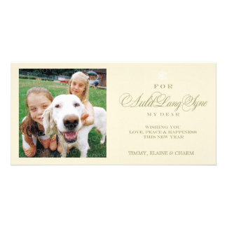 For Auld Lang Syne New Year Photo Card