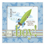 For Baby Boy Invitation Square