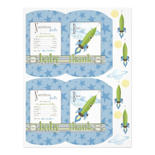 For Baby Boy Mini Puff Box Template Flyer Design
