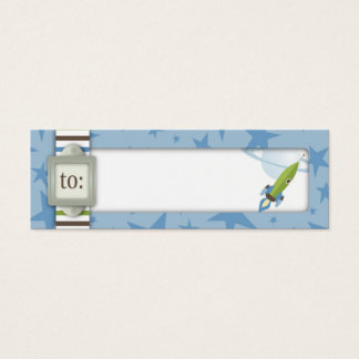 For Baby Boy Skinny Gift Tag Mini Business Card