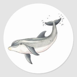For Baby dolphin children Round Sticker