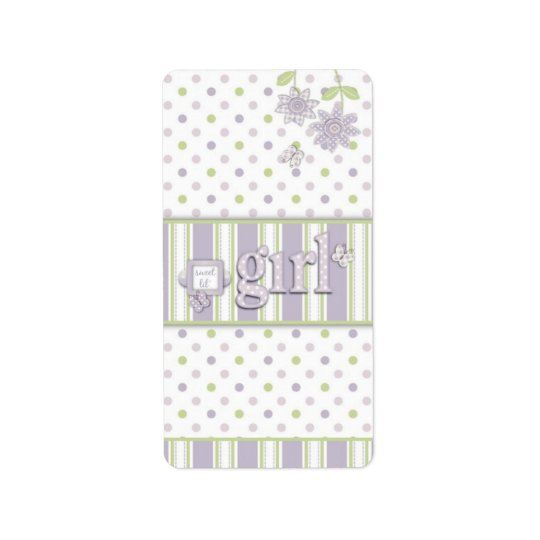For Baby Girl Mini Hershey Bar Label LG