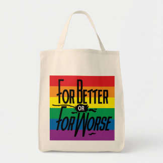 For Better or For Worse, Pride, LGBT, Celebrate Grocery Tote Bag