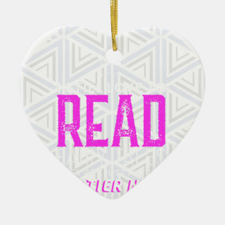 For Book Lovers Ceramic Heart Decoration