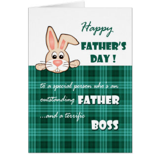For Boss on Father s Day Greeting Cards