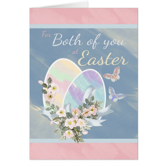 For Both of You - Watercolour Easter Eggs