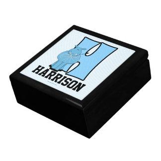 """for Boy's Blue Hippo Monogram """"H"""" Gift Box"""