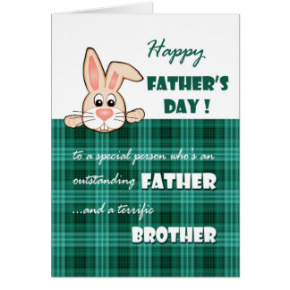 For Brother on Father's Day Greeting Cards