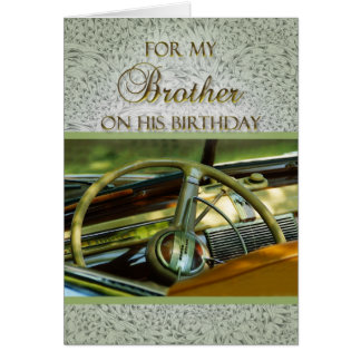For Brother on His Birthday Classic Car Card