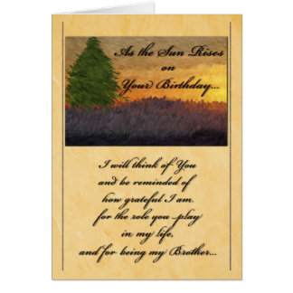For Brother on His Birthday Scenic Greeting Card