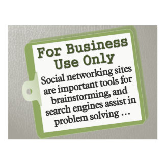For Business Use Only Postcard