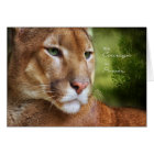for Cancer Patient Mountain Lion Courage and Power Card