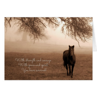 for Cancer Survivor Sentimental Horse Card