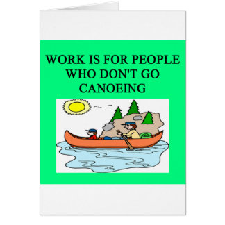 for canoeing lovers greeting card
