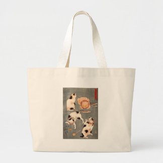 For cats in different poses by Utagawa Kuniyoshi Jumbo Tote Bag