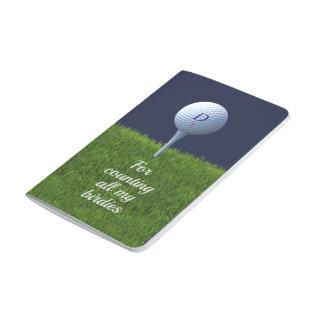 For Counting Birdies Golf Checklist Pocket Journal