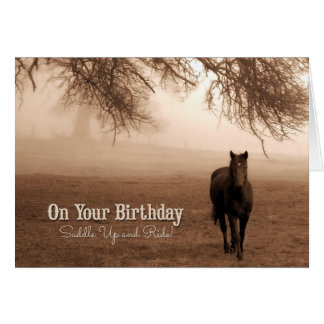 for Cowgirl's Birthday - Funny Western Theme Greeting Card
