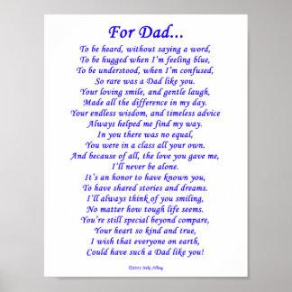 For Dad Memorial Poem Poster