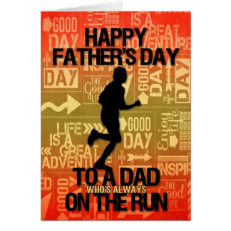 for Dad on Father s Day Runner Sport Theme Greeting Card