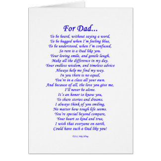 For Dad Poem Greeting Card
