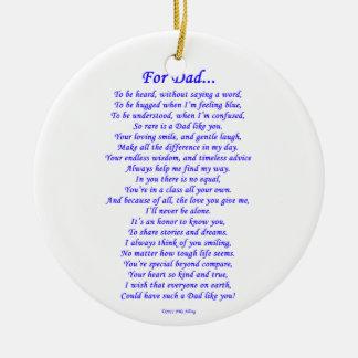 For Dad Round Ceramic Decoration