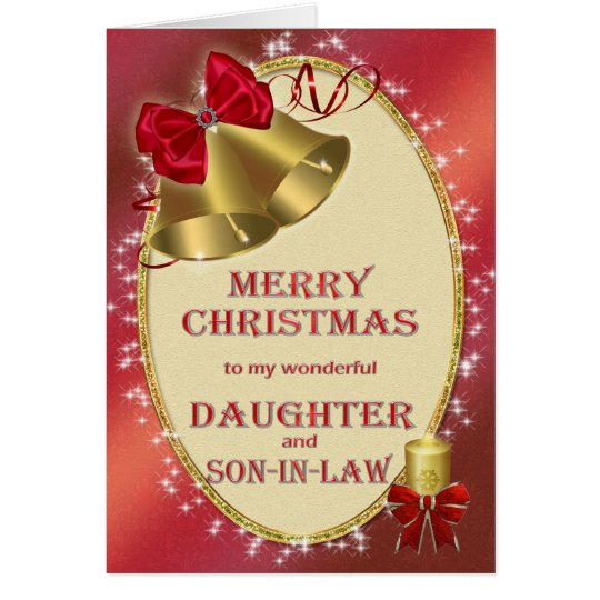 For daughter and son-in-law,christmas card