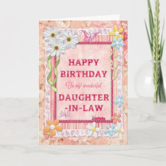 For Daughter In Law Craft Birthday Card Zazzle