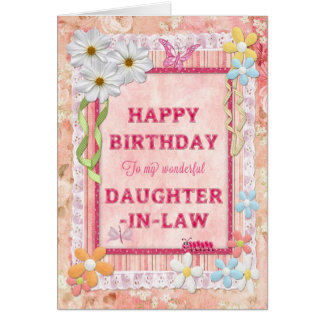 For Daughter-in-Law, craft birthday card