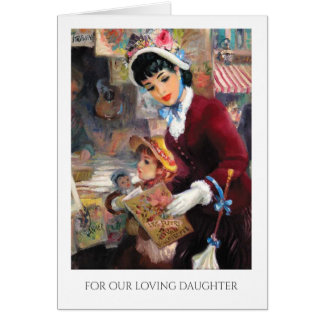 For Daughter on Mother's Day Fine Art Cards