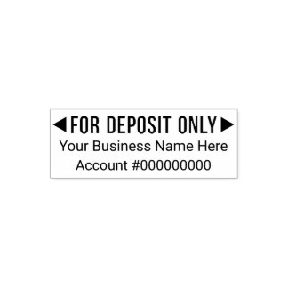 For Deposit Only - Basic Business Office 3 Lines Self-inking Stamp