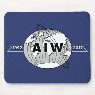 For Desk, AIW 25th Anniversary Logo Horizontal Mouse Mat