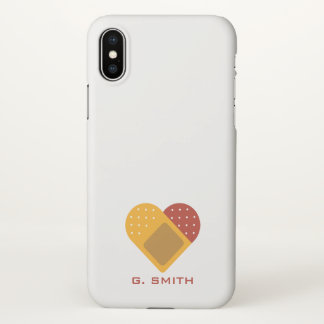 For Doctors and Nurses. Heart Bandaid. iPhone X Case