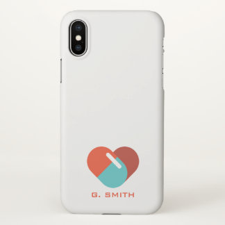 For Doctors and Nurses. Heart Pill. iPhone X Case