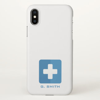 For Doctors and Nurses. Medical Cross. iPhone X Case