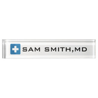 For Doctors and Nurses. Medical Cross Name Plate