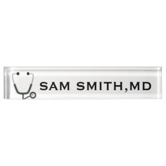 For Doctors and Nurses. Medical Stethoscope. Nameplate