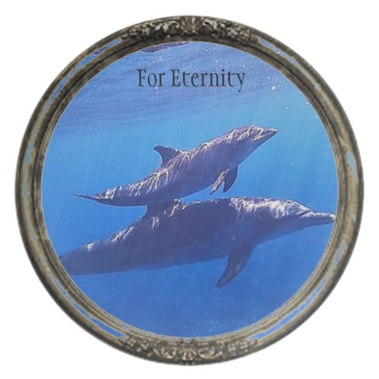 For Enternity Dolphin Collection Plate