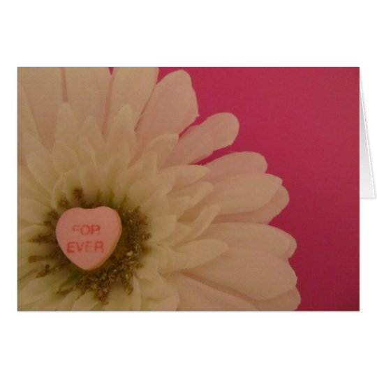 For Ever Conversation Heart Card