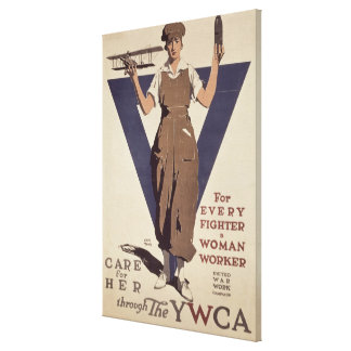 For Every Fighter a Woman Worker Canvas Print